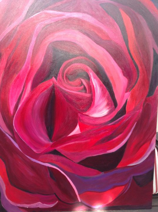 Passion red rose - Therese Molloy art