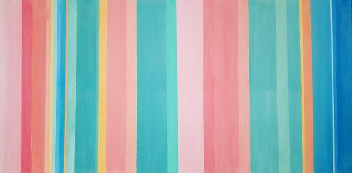Playful Stripes - My Sweet Heart Art