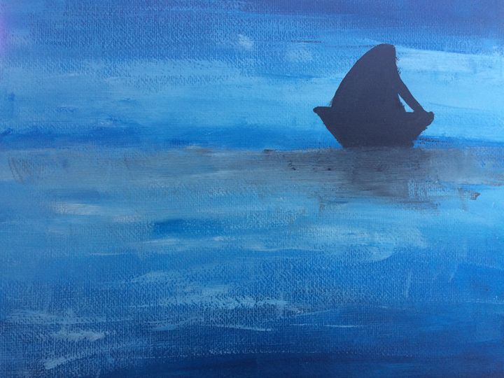 Boat At Sea - Adz Art