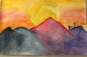 Sunset on montain