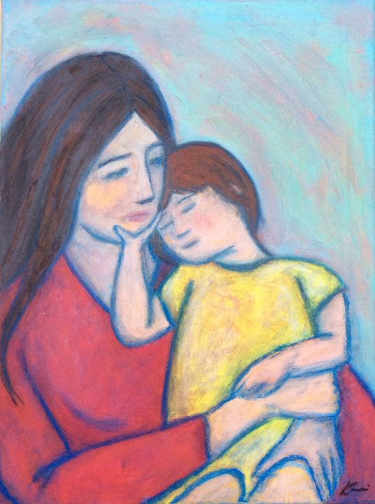 Mother and Child - Kami Long Chowdhury