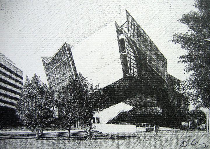 Modern cinema theater, Dresden, Ger. - Constantine Derbin