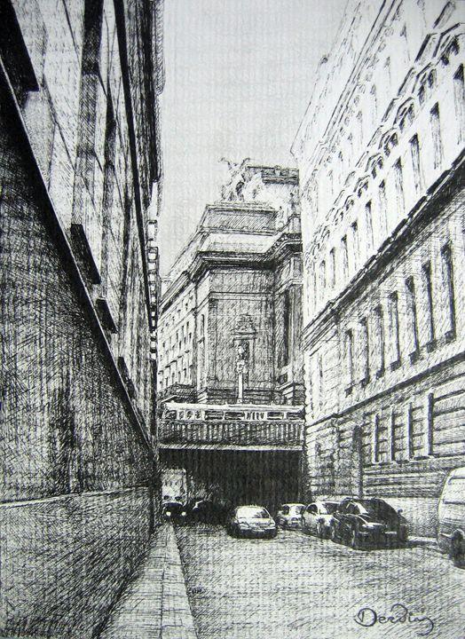 Street. Prague. Czech republic - Constantine Derbin
