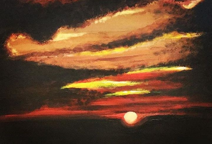 Sunset Painting - Art by Snr