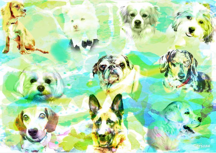 Lovely Dogs - Digital Printable Art