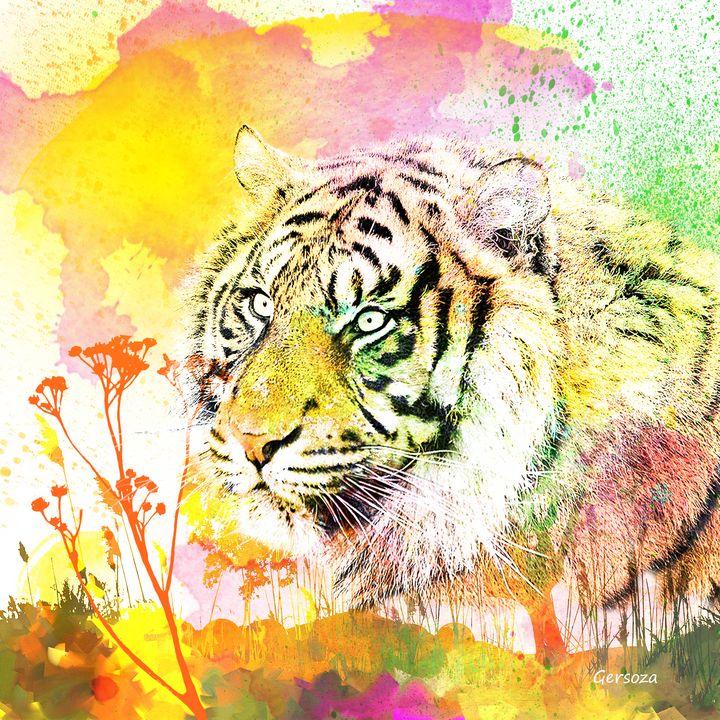 My Digital Tiger - Digital Printable Art