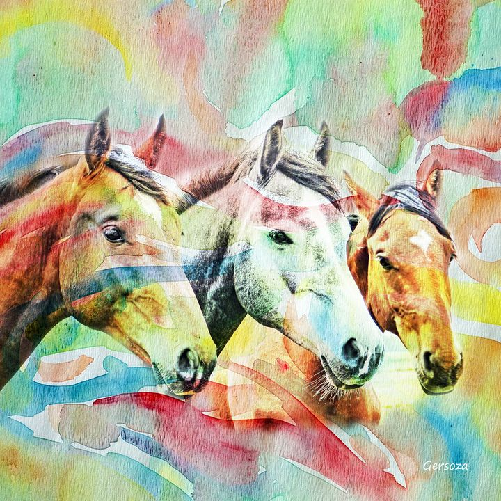 My Horses - Digital Printable Art