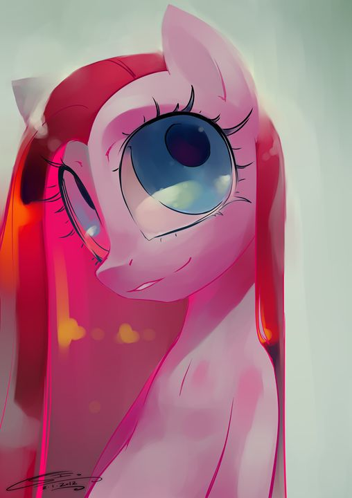 Pinkamena - Art Gallery Ilustration by Io Zarate