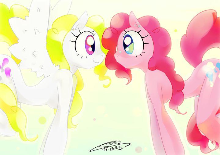 Pinkie Surprised (My little pony ser - Art Gallery Ilustration by Io Zarate