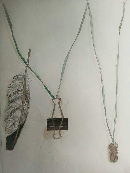 Hanging objects - MalinRobertsArt