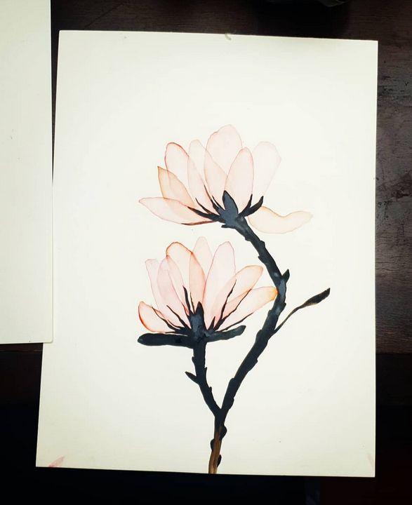 Zen magnolia - MalinRobertsArt