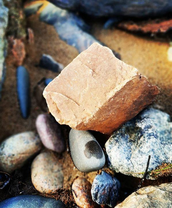 Terracotta stone - MalinRobertsArt