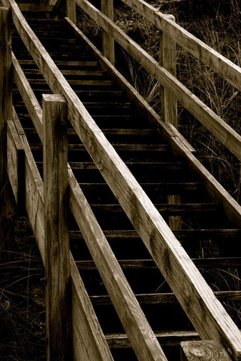 Wooden Stairs - Cantor Photography