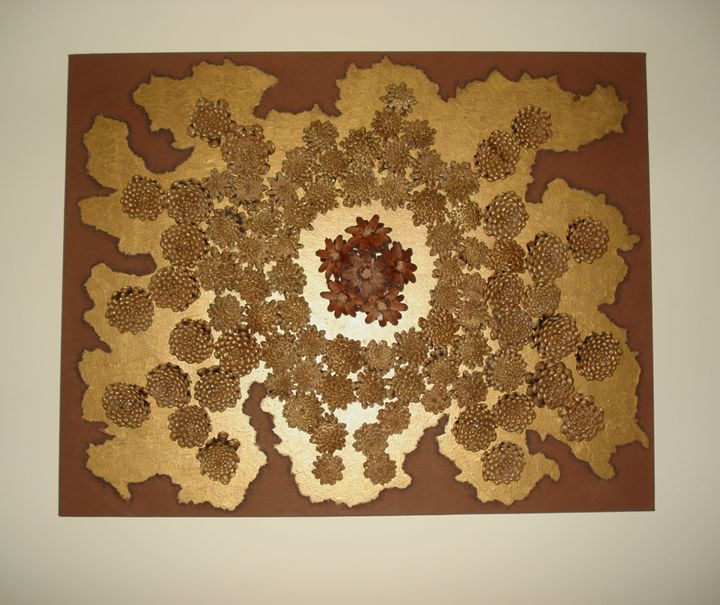 Gold and Brown - Peace art