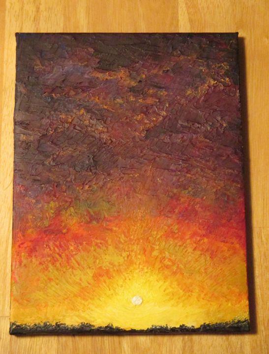 Burnt - Peace art