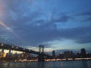 Summer nights by the bridge