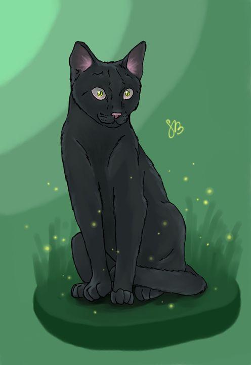 Black cat - StrawBerry