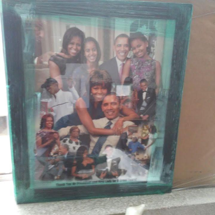 Obama Family Portrait - Fineblackart.com