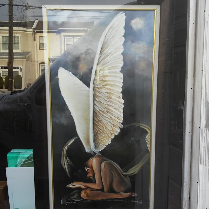 Angel Wings - Fineblackart.com
