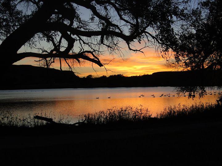 Sunset at Scott Lake - Julia Hutchins
