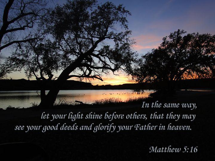 Matthew 5:16 Lake Sunset - Julia Hutchins