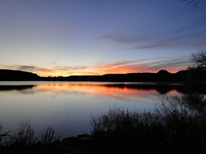 Serenity - Sunset on the Lake - Julia Hutchins