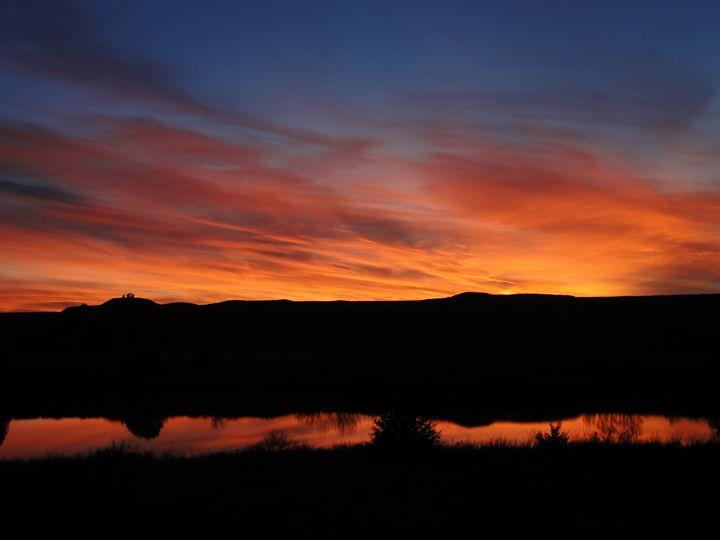 Bold & Beautiful Sunset on the Lake - Julia Hutchins