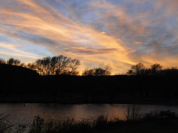 Fall Splendor - Sunset at Lake Scott - Julia Hutchins