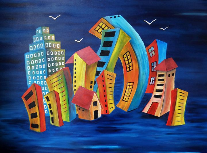 The Floating City - Yolanda Caporn Art