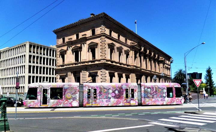 Melbourne Colourful Tram - Yolanda Caporn Art