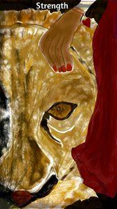 Walk in Strength Tarot Card (Brown) - Soul Food 4 The Soul Gallery