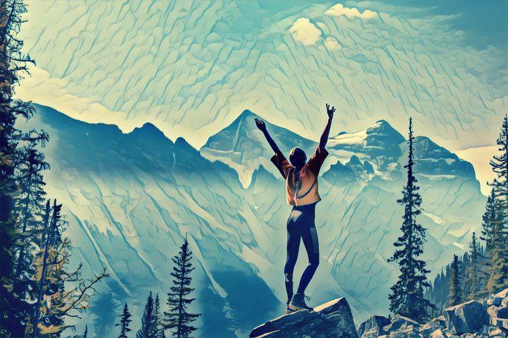 Mountain run - Artnow