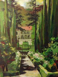 Hiding garden in villa Montalvo