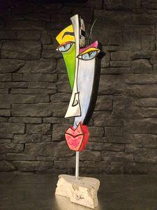 Face 3D - Face of Mondrian