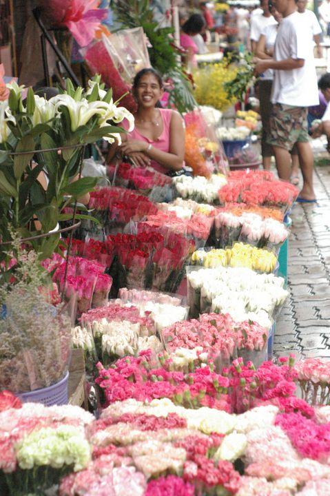 Flower Vendor at Dapitan - mijodo asian gallery