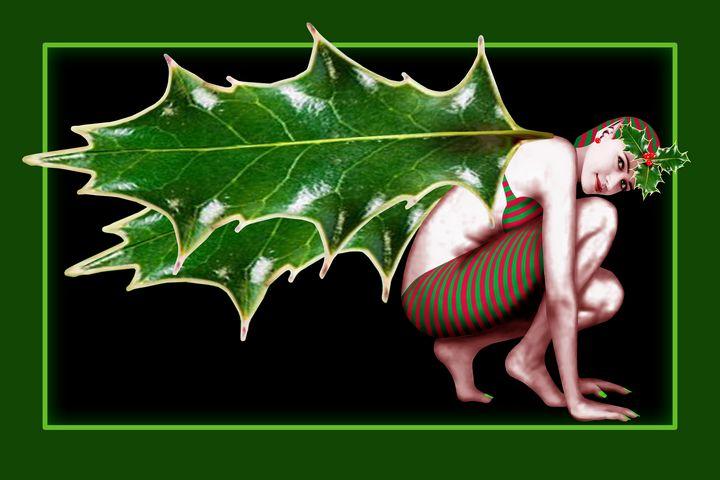 Crimson Holly Gatherer - Green - Nelson Pawlak