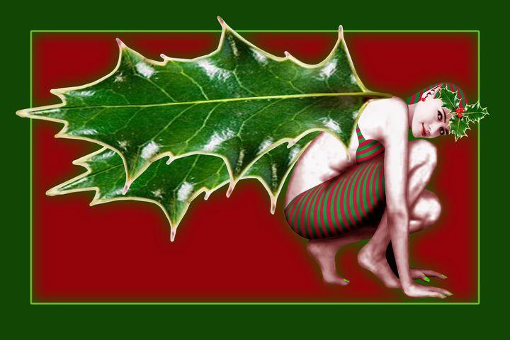 Crimson Holly Gatherer - Red - Nelson Pawlak