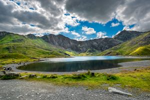 Glaslyn Lake and Snowdon Mountain