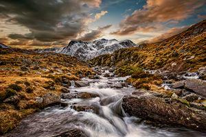 Cwm Idwal Snowdonia Sunset