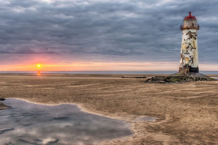 Lighthouse Sunset - Adrian Evans Photography