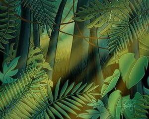 Rainforest - Morning sun - Art of Jessica Bixby