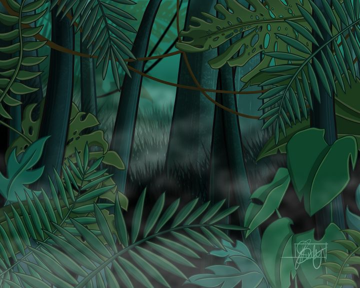 Rainforest - Fog - Art of Jessica Bixby