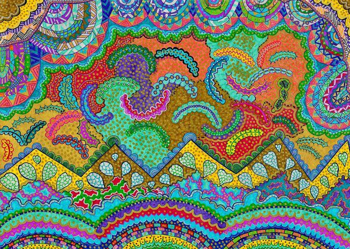 Chaotic details - Elena's Art