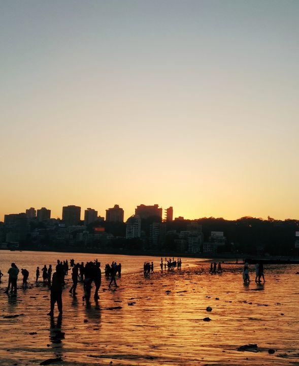 Sunset at beach - ReSa Arts