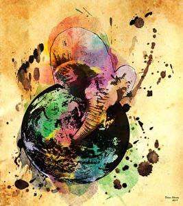 Baby Elephant Globe