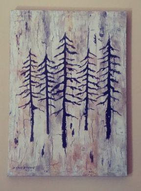 Rustic pines - Deb Vack Studio