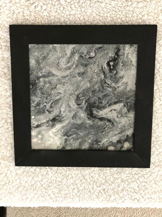 Weathering the storm - Pam's Paint Pouring