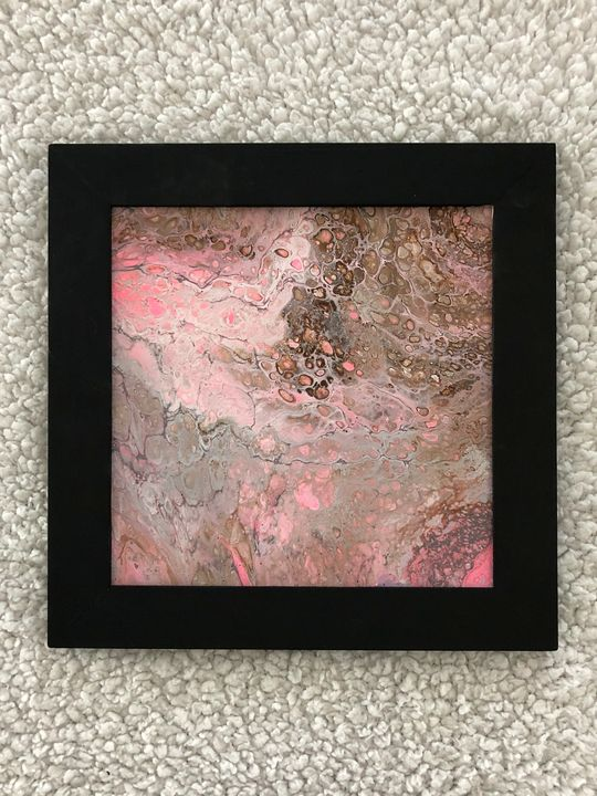 Carmel pink animal print - Pam's Paint Pouring