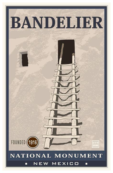 Bandelier National Monument III - Vintage Travel by Kevin Brown Studio