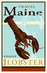 Travel Maine - Vintage Travel by Kevin Brown Studio